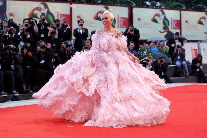Lady Gaga at Venice Film Festival, Red carpet look