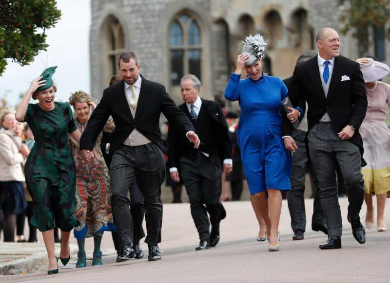 Problem With The Ring, Naughty Children, The Bride's Radiant Smile, And Other Memorable Moments From Princess Eugenie's WeddingAutumn Phillips, Peter Phillips, Zara Phillips, and Mike Tindal