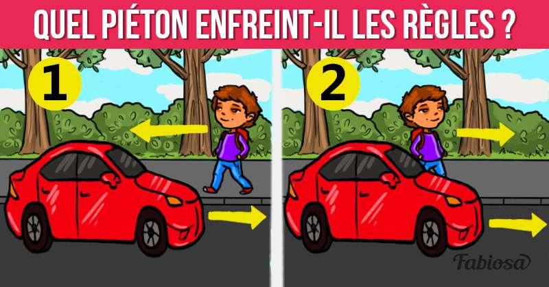 Test rapide sur le code de la route : quel piéton enfreint-il les règles ?