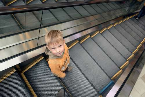 Scary: Baby Tumbles Down An Escalator But Is Rescued In The Nick Of Time By Soldier