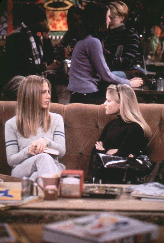 'Friends' Reunion: Jennifer Aniston And Reese Witherspoon Reenact Their Iconic 'Friends' Scene And Fans Love It'Friends' Reunion: Jennifer Aniston And Reese Witherspoon Reenact Their Iconic 'Friends' Scene And Fans Love It