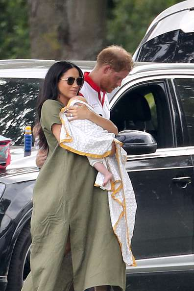 """Rain Poncho"": Net Users Mocked The Dress Meghan Markle Wore To A Polo Match"