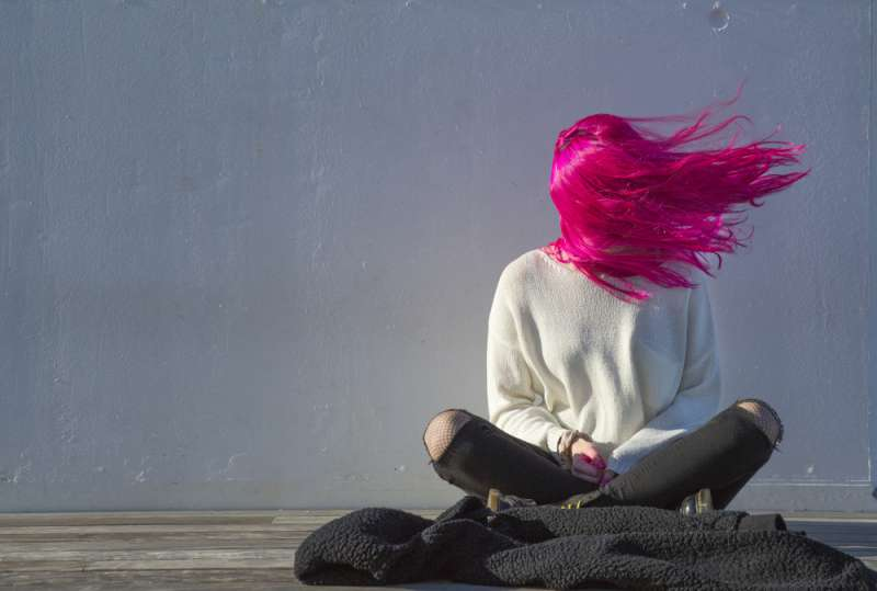 Two-Tone Vision: Hair Colorists Turned An Average Jane Into A Princess Of Neon
