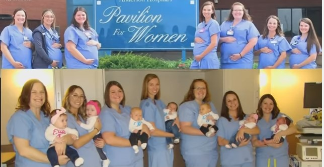 Nurses Who Were Expecting At The Same Time Now Show Off Their Babies Together In A Heartwarming Photo