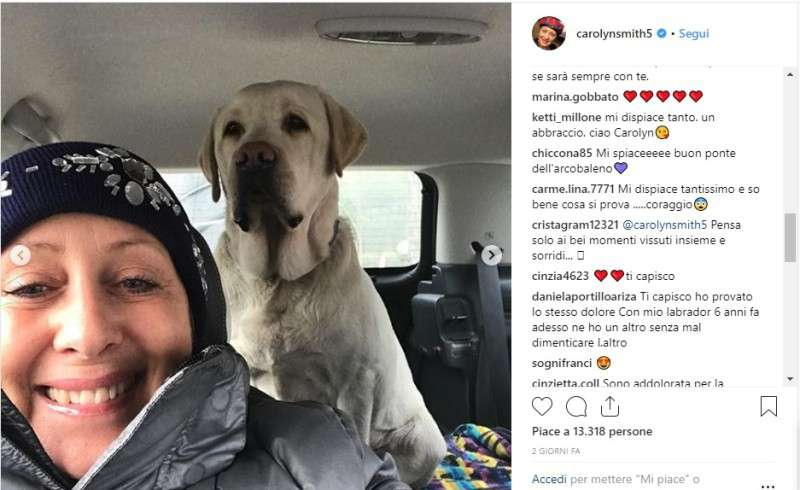 """È morto!"": Carolyn Smith colpita da un doloroso lutto, lo straziante addio su Instagram"