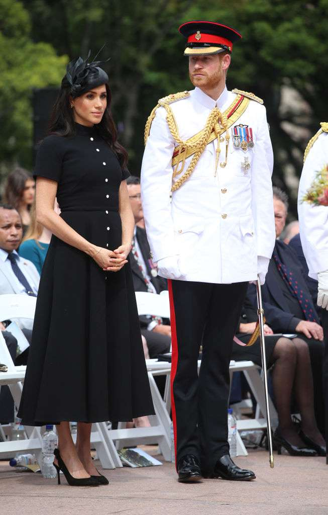 The Duke And Duchess Of Sussex Shed Tears At Sydney Memorial As A Rendition Of Late Princess Diana's Favorite Hymn Was Performed