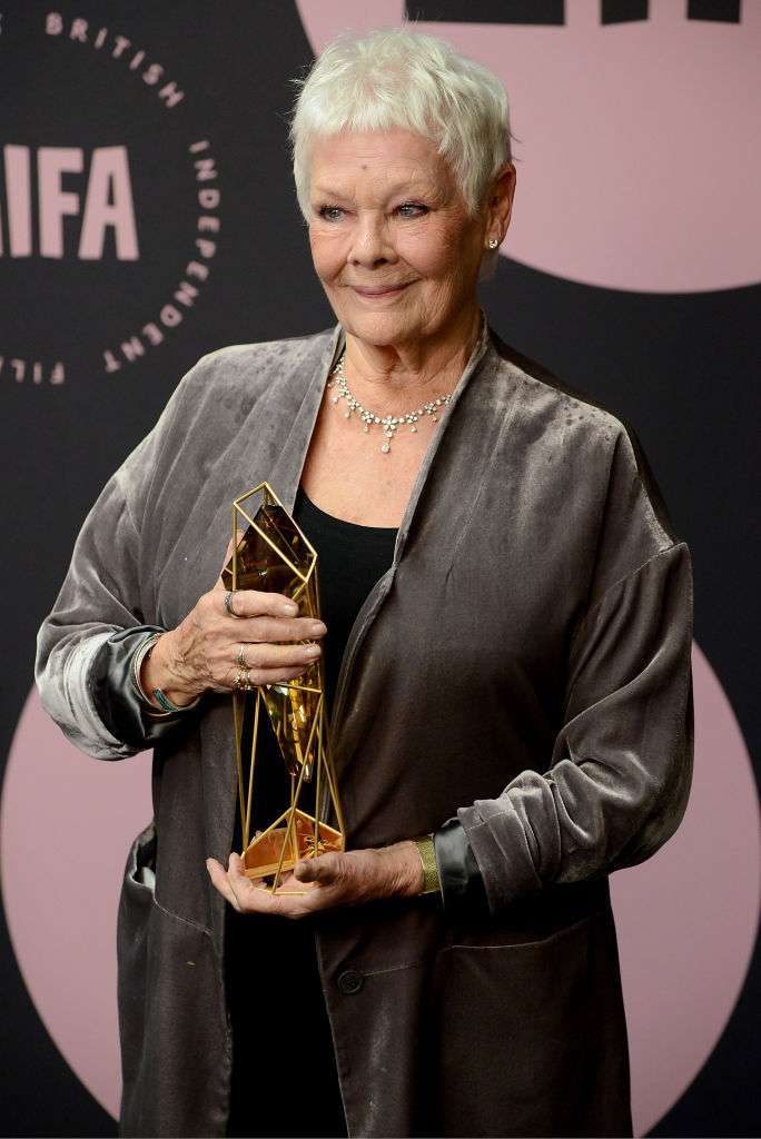 Actress Judi Dench Makes A Bold Fashion Statement As She Receives Prominent Richard Harris Award