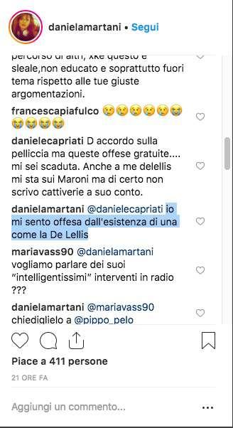 """L'animalista Martani azzanna la De Lellis: """"Seguita da milioni di ragazzine, sceme come lei"""""""