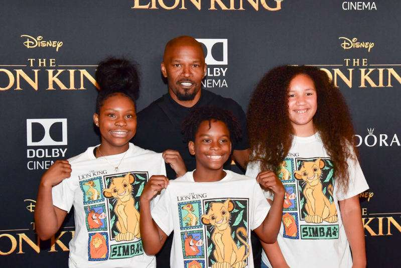 World's Coolest Dad! Jamie Foxx Attends The 'Lion King' Premiere With His Lookalike Daughter And Her Friends