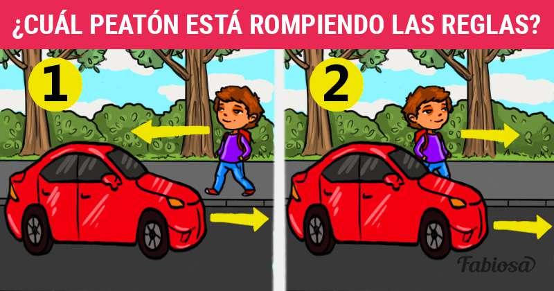 Prueba rápida sobre regulaciones de tráfico: ¿cuál de los 2 chicos va en contra de las reglas?