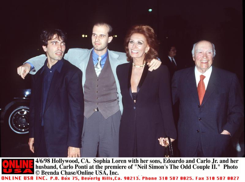 Sophia Loren S Two Sons Found Success In Life But Did They Inherit Their Mom S Enchanting Charm