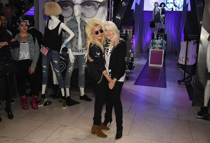 Lady Gaga and Cynthia Germanotta attend Love Bravery by Lady Gaga and Elton John Launch