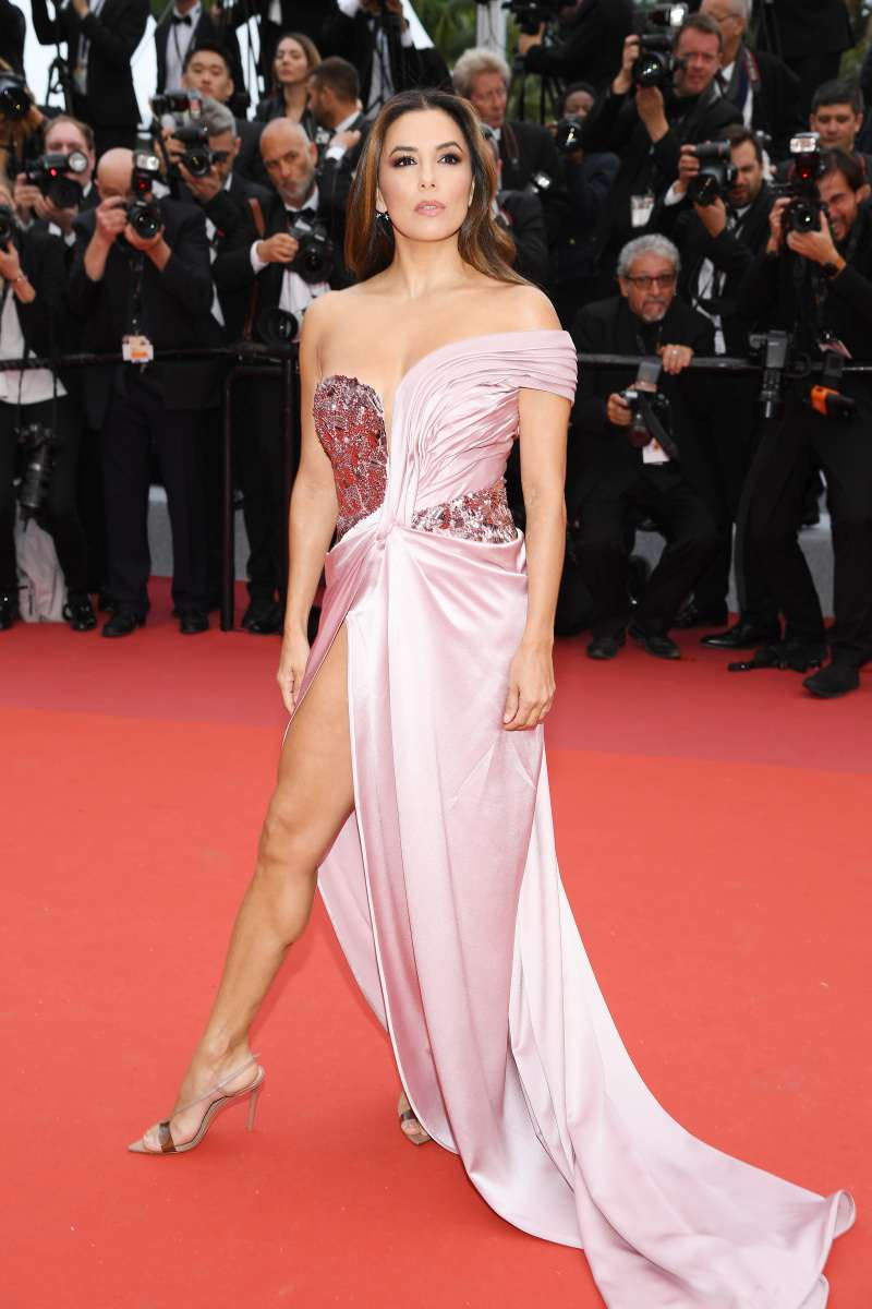 She's A Work Of Art! Eva Longoria Shows Off Her Perfect Legs In Provocative Slit Gown At Cannes Film Festival