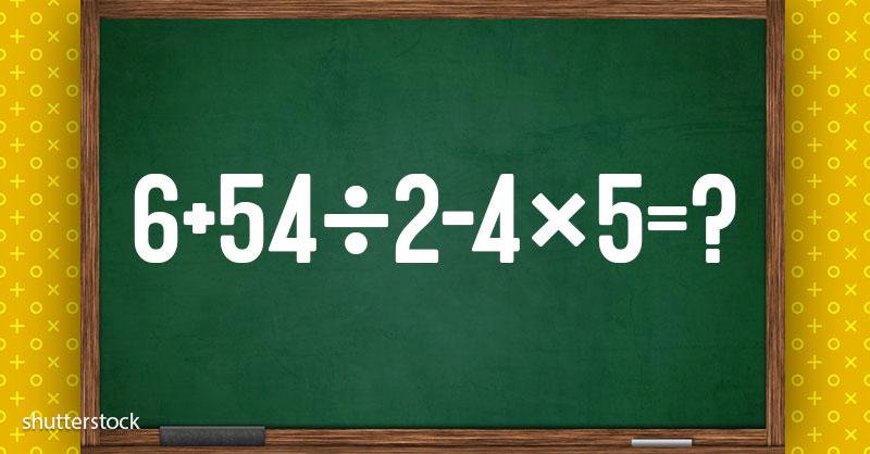 Klar til at løse denne beregning? Denne ligning virker enkel, men kan give dig en hård tid!