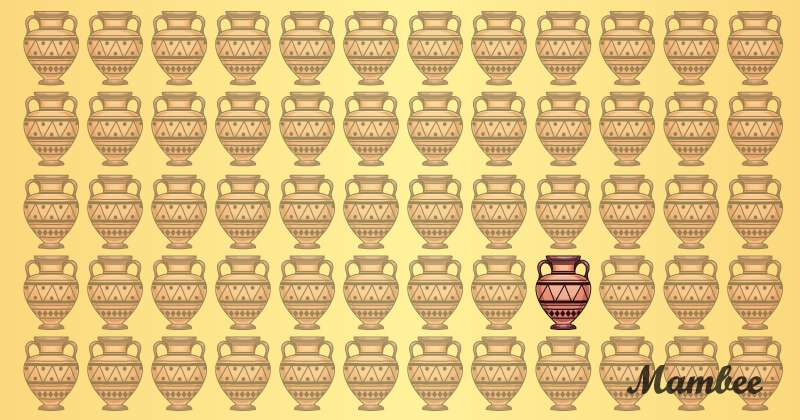 These Amphoras Are Lovely, But One Doesn't Belong In The Bunch. Can You Find The Odd One In Two Minutes?These Amphoras Are Lovely, But One Doesn't Belong In The Bunch. Can You Find The Odd One In Two Minutes?puzzle solving, emoji amphora puzzle, odd-one-out emoji puzzle