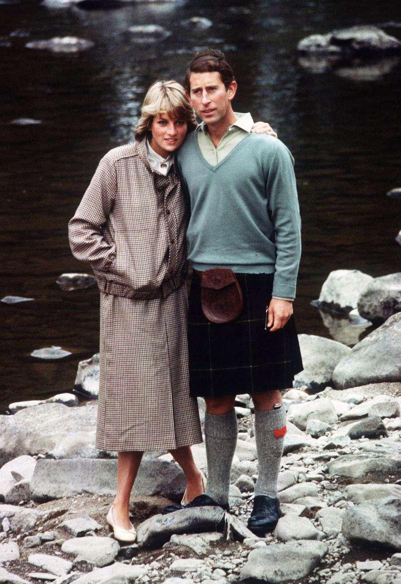 Prince Charles and Princess Diana on honeymoon
