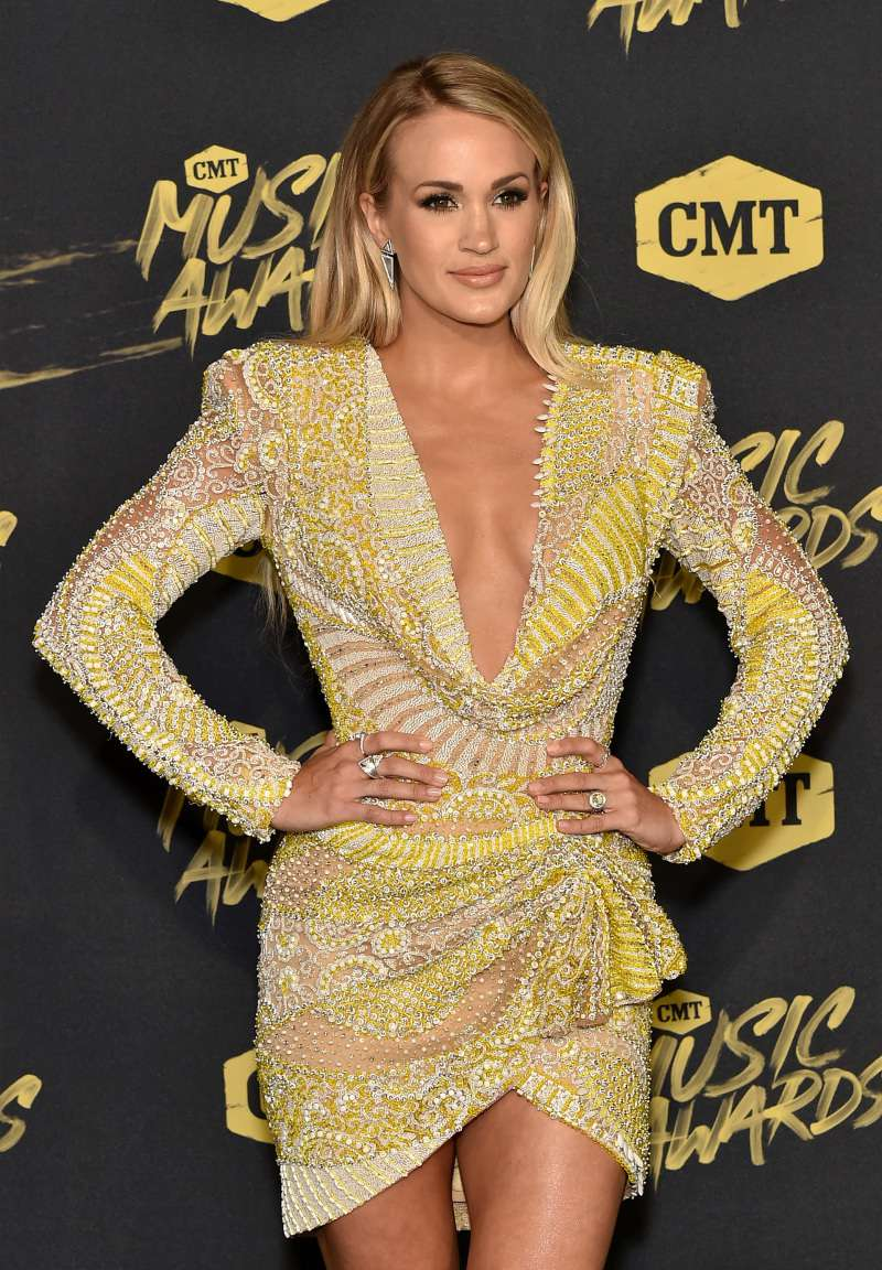 Carrie Underwood Looks Absolutely Stunning In Embellished