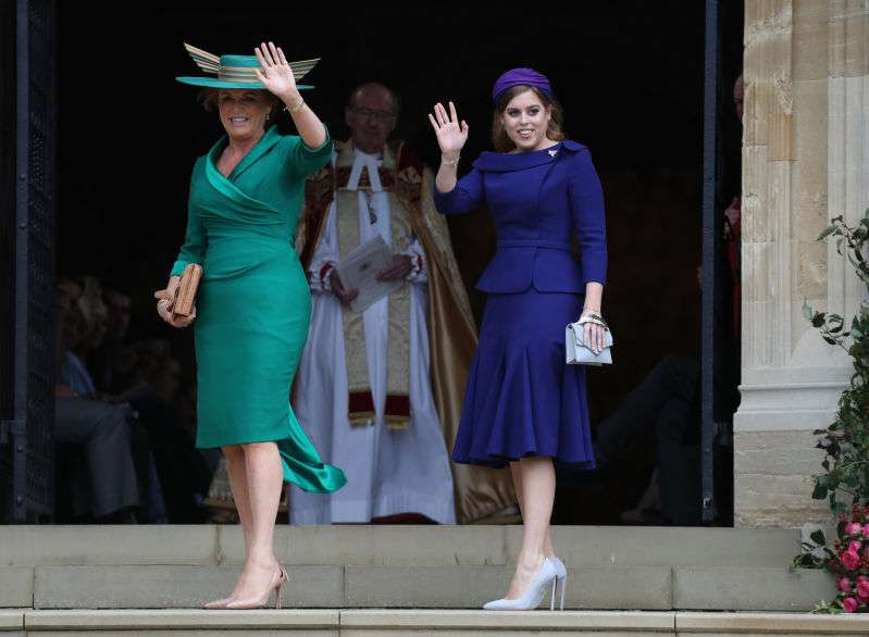 How Sarah Ferguson Secretly Expressed Her Love For Prince Andrew With Her Outfit At Eugenie's Wedding