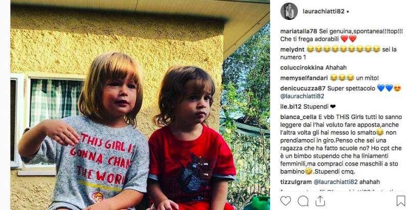 Risultati immagini per figlia laura chiatti capelli lunghi