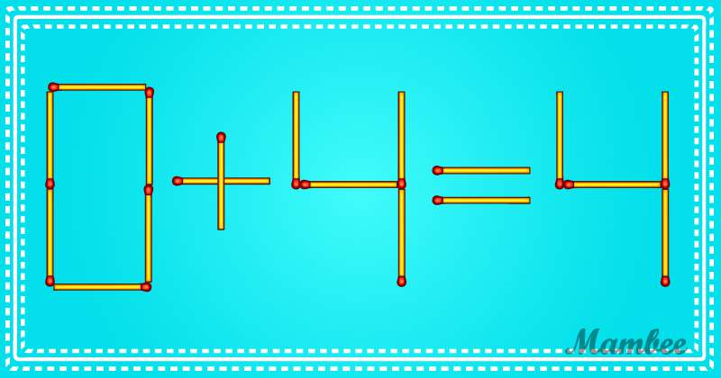 This Equation Can Be Solved By Moving Just One Matchstick, But It Might Take Some Time To Find A Way