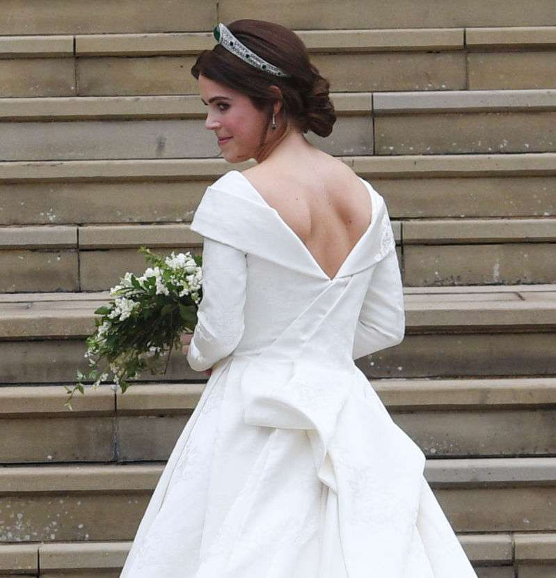 Princess Eugenie Proudly Wore A Special Gift From Her New Husband, Jack Brooksbank, On Their Wedding Day