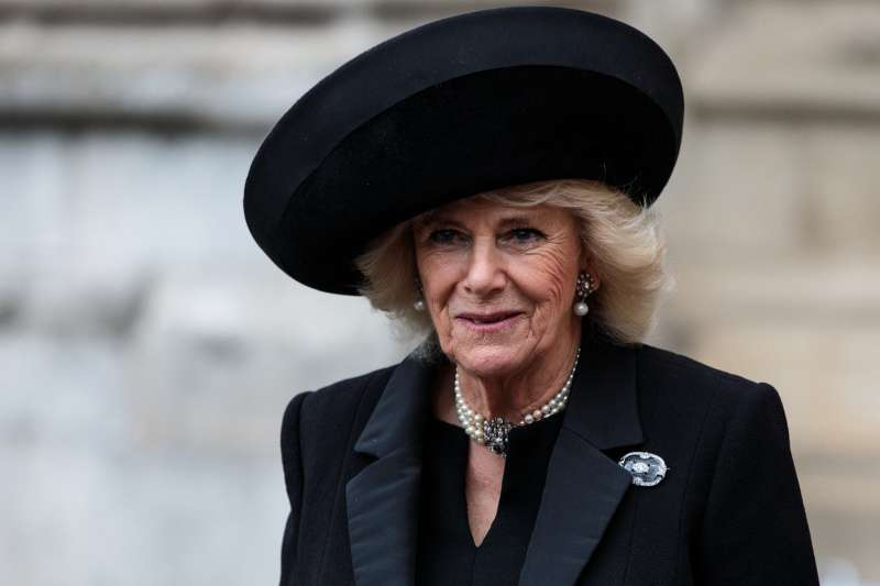 Duchess Camilla Stunned In A Gorgeous All-Blue Skirt Dress At Her Visit To Royal Academy Of Arts