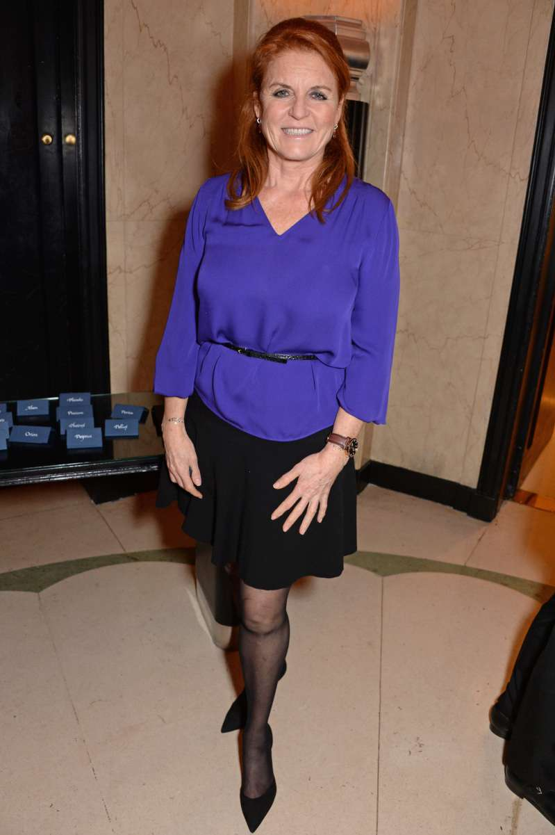 Wowza! Sarah Ferguson Shows Off Her Skinny Legs In A Black Miniskirt As She Attends A Lunch Party
