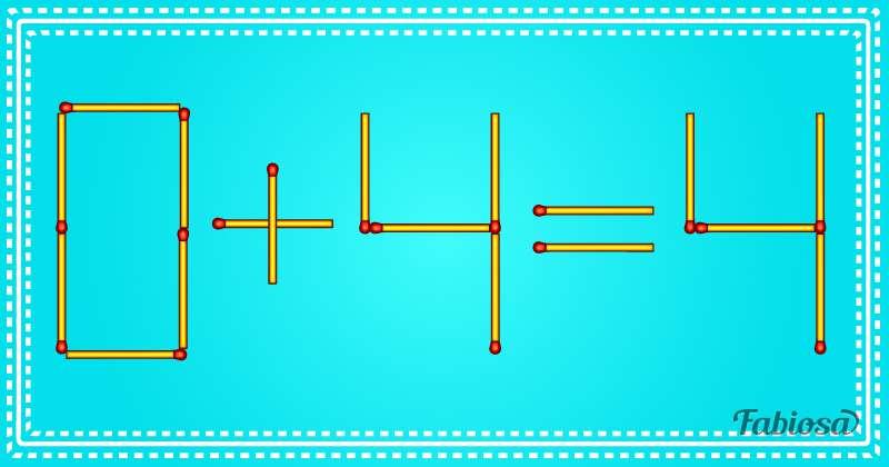 Pouvez-vous résoudre ce problème en ne déplaçant qu'une seule allumette ?