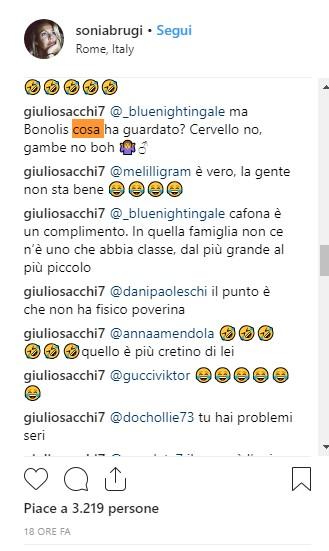 Sonia Bruganelli comment Instagram