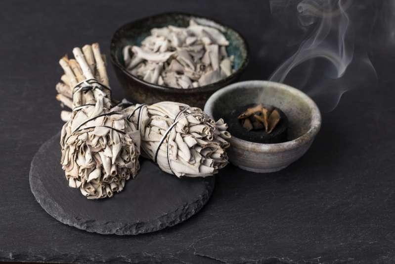 Smudging with sage smoke