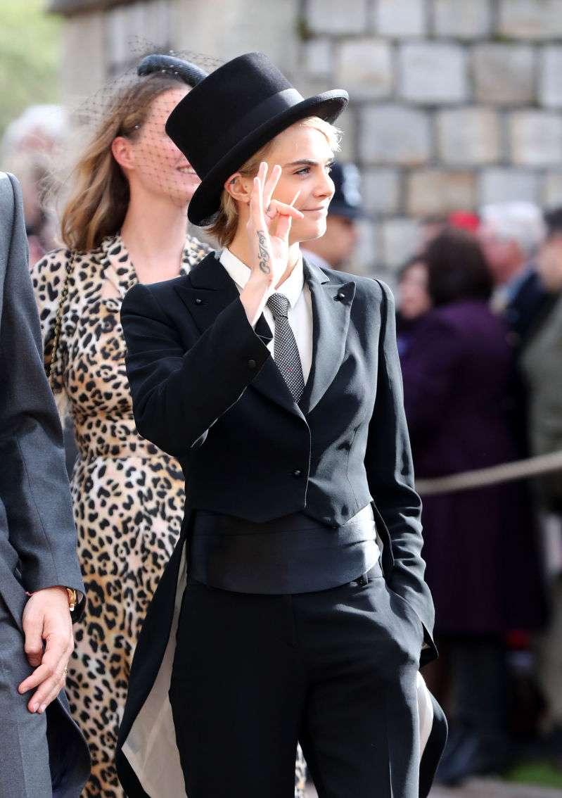 Mais um casamento real inesquecível: Veja os melhores momentos do matrimônio entre Princesa Eugenie e Jack Brooksbank!cara delevingne at royal wedding