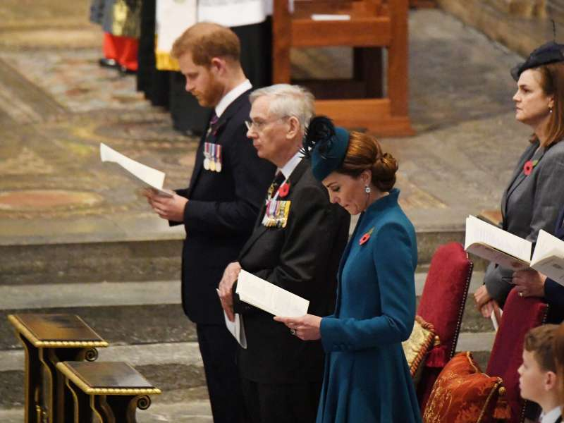 Meaning Behind Kate And Harry's Seating In Relation To The Altar At Anzac Service