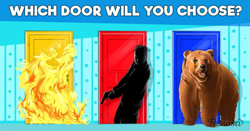 Which Door Will You Choose? Test Your Wit!Which Door Will You Choose? Test Your Wit!