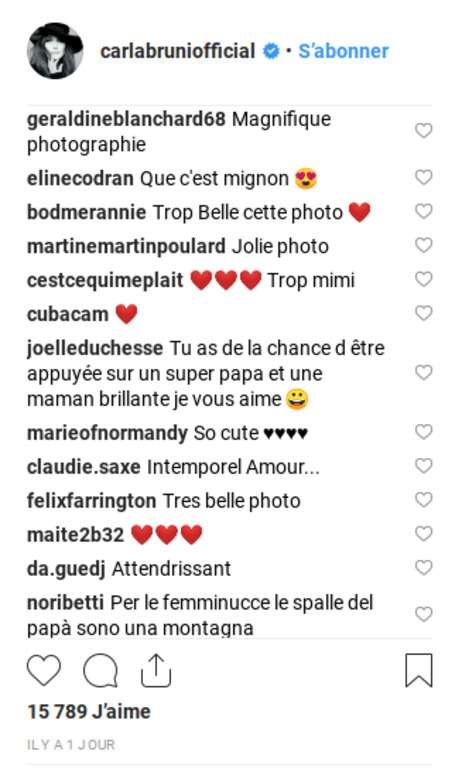 Carla Bruni dévoile un moment de tendresse exceptionnelle entre son mari Sarkozy et leur fille Giulia !