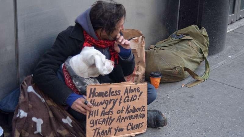 Se vio obligado a elegir entre su departamento y su perrita: no lo dudó y decidió vivir en la calle