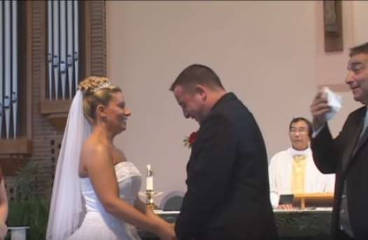 Best Man Drops His Pants At The Altar And The Bride And Groom Can't Stop Giggling