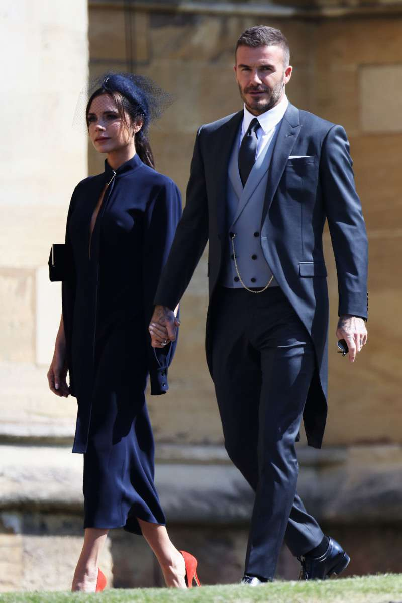What Do Meghan And Harry's Children Have In Common With Angelina Jolie And Brad Pitt? They Are One Big Family!David and Victoria Beckham attending royal wedding