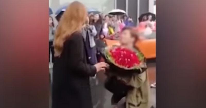 В богатстве ли счастье? Невеста вернула роскошный букет жениху и отказалась от Ламборгиниchina rich man proposal lamborghini