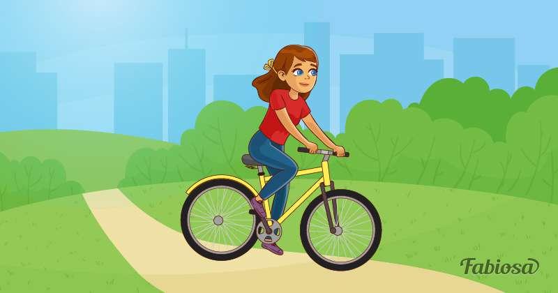 У девочки началась менструация прямо в автобусе, но парень нашел способ скрыть ее смущениеthe girl is riding a bicycle