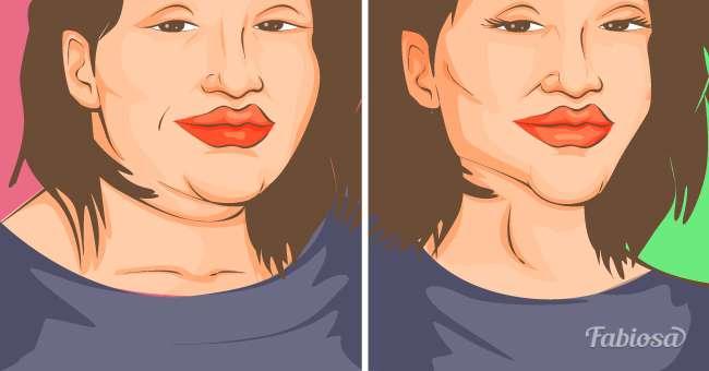 perdre du poids du visage et du cou