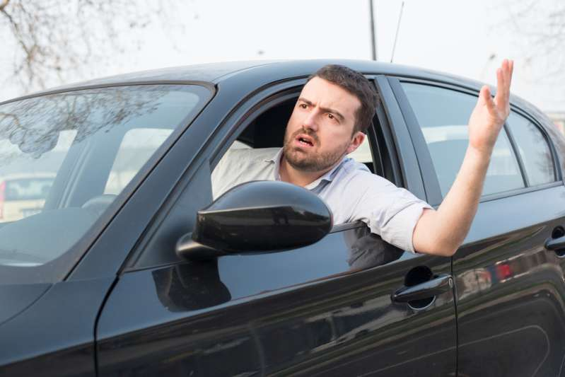 Not So Macho After All: What A Man's Driving Habits Can Tell About HimRude man driving his car and arguing a lot