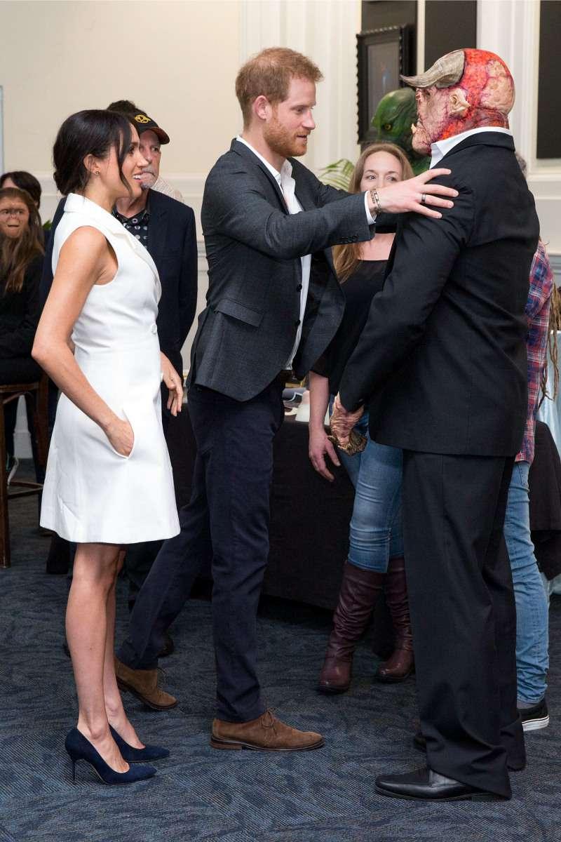 Meghan Markle Dazzles In White Tuxedo Mini Dress On Day Two Of New Zealand Tour