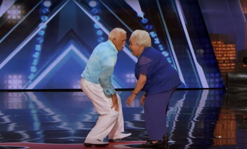 """Pareja de ancianos emocionó con su baile a todos los presentes en """"America's Got Talent""""celina filiberto america's got talent 2018"""