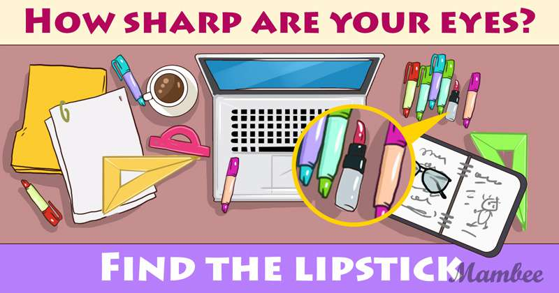 It's Time To Check Your Attention Level: Can You Spot The Lipstick?lipstick