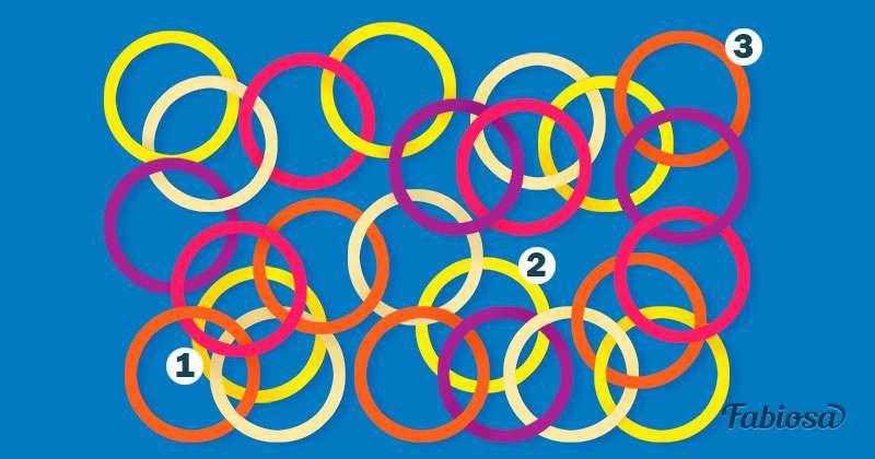 Testez votre attention : combien de cercles ne sont pas connectés aux autres ?