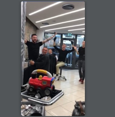 Italian Barbers Unite To Perform A Song To Distract Little Boy Who Was Scared Of Getting His Haircut