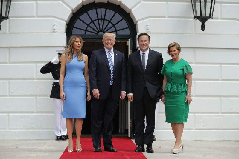 They Favour The Same Style: Queen Letizia Wears A Dress Once Worn By Melania Trump During A Visit To The White HouseThey Favour The Same Style: Queen Letizia Wears A Dress Once Worn By Melania Trump During A Visit To The White House