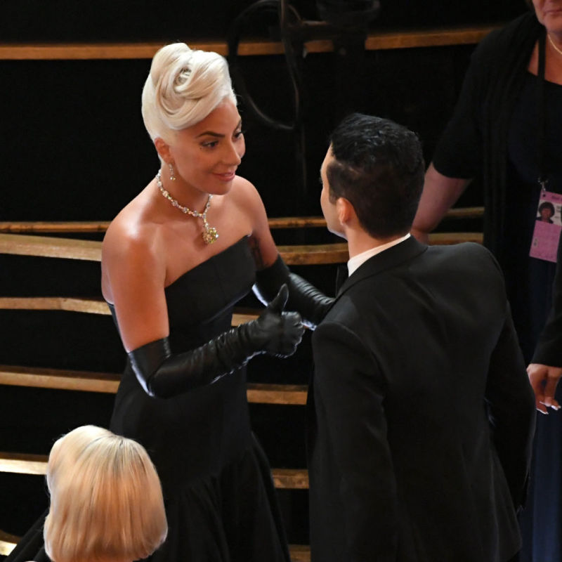 Heartfelt Moment: Lady Gaga Fixed Rami Malek's Distorted Tie At The Oscars, And She Looked So Motherly While At It