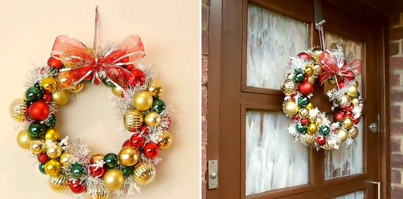 Un artesano convirtió un gancho de ropa viejo en un bello arreglo navideño, y tú también puedes hacerlo