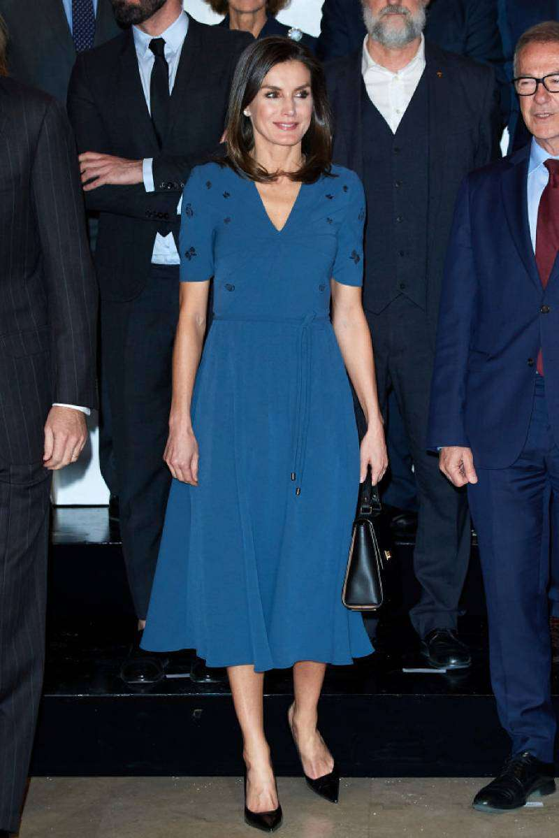 Queen Letizia Vs Meghan Markle: Are The Style Icons Inspired By Each Other's Images?Queen Letizia of Spain attends Royal Theatre Foundation meeting on February 07, 201